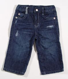 Armani Baby Boys Logo Jeans with Rip Trim