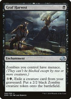 Graf Harvest - Rebel Without Black Zombie, Eldritch Moon, Creatures 3, Magic The Gathering Cards, Alternative Art, Magic Cards, Wizards Of The Coast, Mtg, Game Art