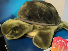 "Folkmanis Puppet Turtle Hand Puppet 12"" Green Pretend Play Stocking Stuffer"