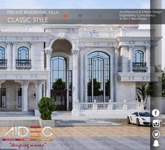 """Proposed Private Residential Villa Classic Design For more details contact: Al Ain: +9713 737 0068 Abu Dhabi: +9712 666 6962 or visit our website: www.aidec.ae Architectural & Interior Design Engineering Consultancy AIDEC """"designing visions"""""""