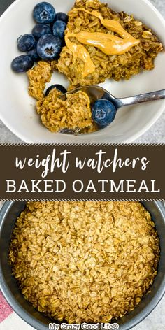 Instant Oatmeal Recipes, Healthy Oatmeal Recipes, Healthy Breakfast Recipes, Healthy Baking, Healthy Filling Breakfast, Weight Watchers Breakfast, Weight Watchers Meals, Weight Watchers Oatmeal Recipe, Weight Watchers Muffins