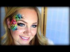 Neon Cheetah Face Painting / Makeup