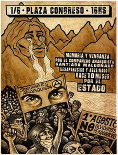 El 1 de junio de 2018 se cumplen 10 meses de la desaparición forzada de Santiago Maldonado por la Gendarmería, seguida de su muerte.  La impunidad en todas las partes implicadas ha sido y es enorme. Exigimos justicia!