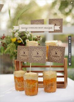 DIY Cobbler Recipe | CHECK OUT MORE IDEAS AT WEDDINGPINS.NET | #weddingfavors