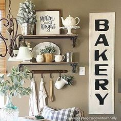 Our HUGE Antique Bakery Sign is a vintage reproduction of the Original bakery signs from the early 1900's. We love how @thedowntownaly used her bakery sign to add a little hometown flair to her breakfast nook.