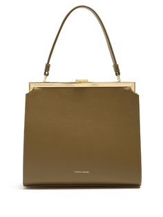 Elegant leather top-handle bag | Mansur Gabriel - AVAILABLE HERE: http://rstyle.me/n/csh69nbcukx