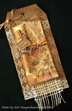 Tag with tea bag, made by Alie Hoogenboezem-de Vries
