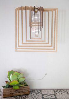 AssembLIT range of laser cut wooden light fittings : easy self assemble Electrical Stores, Bedside Lighting, White Stain, Light Fittings, Pendant Lighting, Range, Antiques, Easy, Home Decor