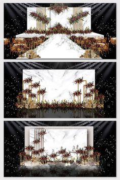 Red and white marble western theme wedding effect picture & Models Decor Wedding Backdrop Design, Wedding Stage Design, Wedding Stage Decorations, Backdrop Decorations, Wedding Backdrops, Champagne Wedding Colors, Western Theme, Western Style, Background Decoration