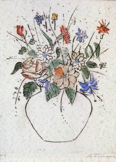 Cândido Portinari, Flores I (Flowers I), 1942 on ArtStack #candido-portinari #art