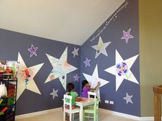 Love these IdeaPaint dry erase stars!!