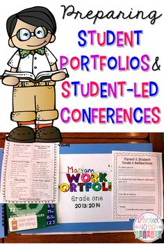 Proud to be Primary's tips on preparing student portfolios and student-led conferences. Includes FREEBIE for organizing a student-led conference.