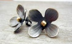 Wild flower earrings by megangillis on Etsy, $115.00