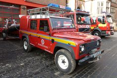 North Yorkshire Fire and Rescue Service Land Rover Defender