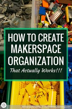 How to Create Makerspace Organization that Actually Works : Figuring out how to get (and keep) your makerspace organized can be a daunting task. I don't claim to have a magical organization system that works perfectly 100% of the time. But I have learned a few things about keeping our space organized over the last three years.