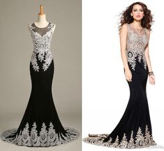 2015 Hot Sheer Neck Black Arabic Prom Dresses Luxury Lace Appliques Vintage Hollow Back Mermaid Prom Dresses Classic Formal Evening Dresses Online with $174.16/Piece on Xzy1984316's Store | DHgate.com