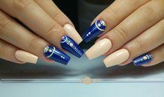 Nails * nail art * blue * geometric