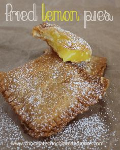 Fried Lemon Pies from www.chocolatechocolateandmore.com #pie #lemon