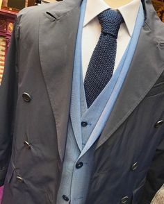 A three piece suit gives you three times more occasions to suit up. Add topcoat for full effect.