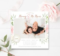 Mommy and Me Mini Session Template, Mommy & Me Minis, Mother's Day Photo Session, Photoshop Template, INSTANT DOWNLOAD!
