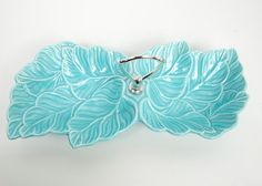 Vintage Turquoise Relish Tray Divided Serving by LeVintageGalleria, $42.00