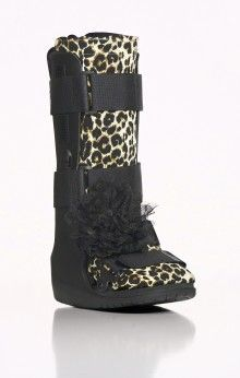 Look sleek (like a leopardess!) with the Leopard Sock-It and Black Strap-It Flower - Retail $27
