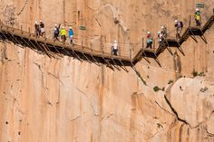 """Spain's Caminito del Rey, dubbed """"the most dangerous path in the world,"""" is set to reopen to daredevils for the summer season. Spanish Eyes, Spain Images, Malaga Spain, Walking Paths, Spain And Portugal, Stunning View, Spain Travel, Vacation Destinations, Vacations"""