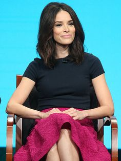 Star Tracks: Wednesday, August 3, 2016 | SITTING PRETTY  | Abigail Spencer is all smiles as she speaks onstage at the Timeless panel during the 2016 Television Critics Association Summer Tour in Beverly Hills on Tuesday.
