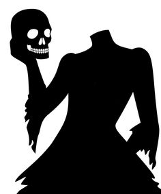 Gothic Manor Headless Woman Window Decal   zulily