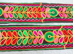 Indian  Embroidered Floral LaceDecorative by uDazzleSupplies