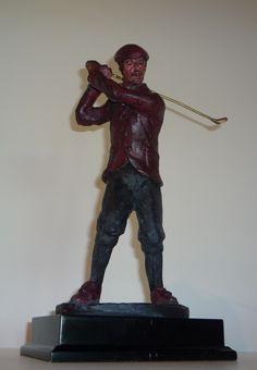 Golfer Sculpture