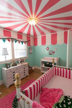 Cute baby rooms for girls carnival baby girl nursery ideas cute baby girl bedroom themes Girl Nursery Themes, Baby Nursery Themes, Bedroom Themes, Nursery Room, Nursery Decor, Nursery Ideas, Room Baby, Decor Room, Nursery Pictures