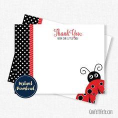 Ladybug Thank You Card by ConfettiFete