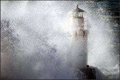 Stormy Lighthouse Pics | Lighthouse in the stormy sea by ornellab. / © All rights reserved