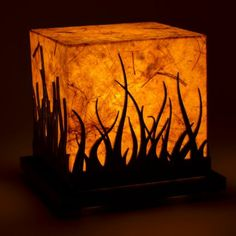 Shady Ideas Forest Fire Small Table Lamp,Decorative Lamps Table Lamps