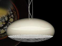 Direct light aluminium pendant lamp MOON by Marzais Créations | design Jean Paul Marzais