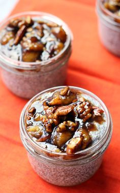 bananas foster chia pudding #breakfast #treat