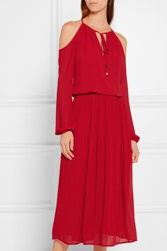 MICHAEL Michael Kors   Cutout georgette dress   NET-A-PORTER.COM