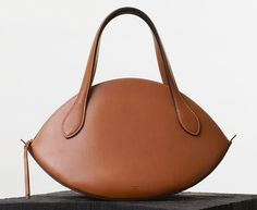 Celine-Large-Curved-Handbag-Tan-2050 {Love the shape!  Inspiration!]