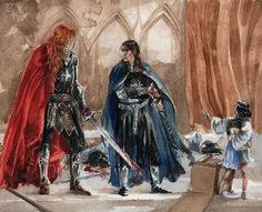 Maglor took pity on them by chmiel. them being Elrond and Elros. He eventually fostered them.