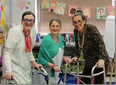 I love the idea of having teachers dress up like they're 100 years old on the 100th day of school!