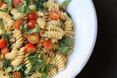 Savor Home: Fusilli With Spinach & Tomatoes