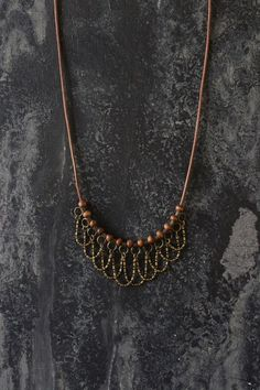 Layered necklace beaded necklace boho necklace por AnankeJewelry