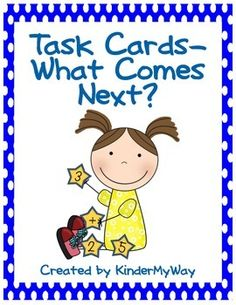 Kindergarten Math : Kindergarten Math Task CardsSet includes 60 color coded task cards for identifying what number comes next and recording sheet.Click here so save by purchasing the Task Card Bundle. Visit KinderMyWay for all your Kindergarten Math needs.*********************************************************************Other KINDERGARTEN MATH Products You May Like:Kindergarten Math - Addition.Kindergarten Math - Winter Printables.Kindergarten Math - Fall Printables.