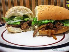 Baguette de carne de res #RecetasGratis #RecetasdeCocina #Recetasfáciles #Sándwiches #SándwichesIdeas #Bocadillos #Bocata