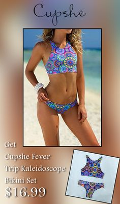 Cupshe is giving Cupshe fever trip kaleidoscope bikini set just at $16.99. Avail this deal before it ends. For More Cupshe Coupon Codes Visit: http://www.couponcutcode.com/stores/cupshe-coupon-codes/