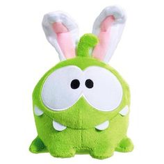 Bunny Om Nom #cuttherope #omnom #cute #green #little #monster #love #yummy #candy #sweets #playing #play #mobile #game #games #phone #fun #game #happy #funny #face #eyes #smile #nice http://cuttherope.net