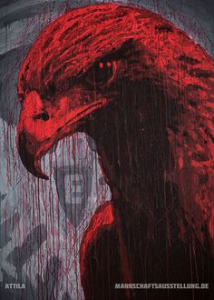 Attila, Eintracht Frankfurt, acrylics on canvas