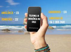 Telefones de emergência do Chile