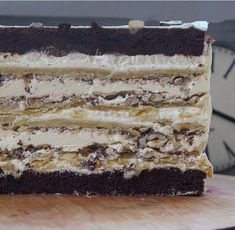 Icebox Cake Recipes, Dessert Recipes, Russian Cakes, Individual Cakes, Torte Cake, Sweet Pastries, Homemade Cakes, Cakes And More, Healthy Desserts